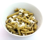 Fresh salad of green beans Royalty Free Stock Photography