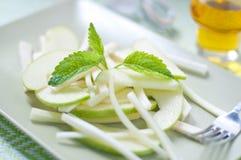 Fresh salad and green celeriac, celery Royalty Free Stock Photo