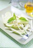 Fresh salad and green celeriac, celery Stock Image
