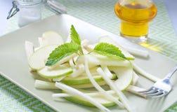Fresh salad and green celeriac, celery Royalty Free Stock Photos