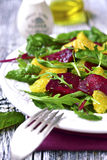 Fresh salad from greens,beetroot and orange. Royalty Free Stock Photo