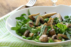 Fresh salad with  grilled mushrooms Royalty Free Stock Photography