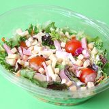 Fresh salad with ham and cheese. Some fresh salad with ham and cheese Stock Images