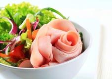 Fresh salad with ham Stock Photo