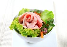 Fresh salad with ham Stock Image