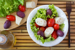 Fresh salad of heart of palm (palmito) Royalty Free Stock Photos