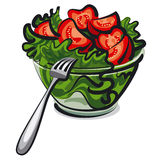 Fresh salad Stock Images