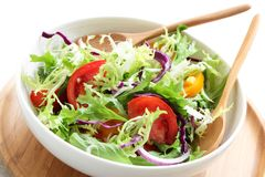 Fresh Salad In White Plate Royalty Free Stock Images