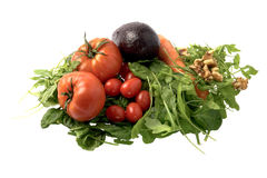 Fresh salad ingredients stock images