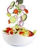 Fresh salad with ingredients Royalty Free Stock Photo