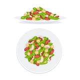 Fresh salad isolated Royalty Free Stock Photos