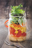 Fresh salad in jar Stock Photography