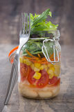 Fresh salad in jar Royalty Free Stock Photography