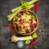 Fresh salad leaves mixFresh salad leaves mix Royalty Free Stock Images