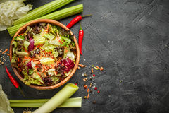 Fresh salad leaves mixFresh salad leaves mix Stock Photo