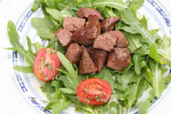 Fresh salad with liver Stock Image