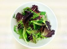 Fresh salad mixed in the bowl, clean food, healthy food Stock Photo