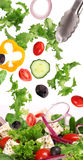 Fresh salad in motion Royalty Free Stock Images