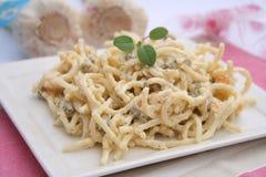Fresh salad of noodles Stock Images