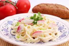 Fresh salad of noodles Royalty Free Stock Photography