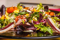 Fresh salad with nuts Stock Photography