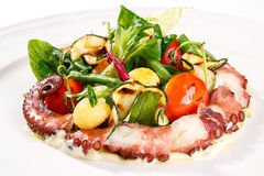 Fresh salad with octopus Stock Images