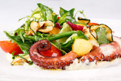 Fresh salad with octopus Stock Photo