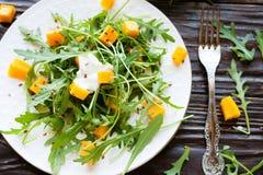 Fresh Salad Of Roasted Pumpkin And Yogurt Royalty Free Stock Photo