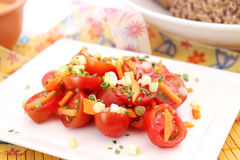 Fresh Salad Of Tomatoes Stock Photos