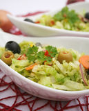 Fresh salad with olives Stock Photography