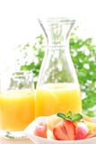 Fresh salad and orange juice Royalty Free Stock Images