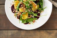 Fresh salad with orange Royalty Free Stock Image