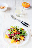 Fresh salad with orange slices Royalty Free Stock Images
