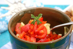 A fresh salad of paprika Royalty Free Stock Photography