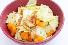 Fresh salad with paprika and tuna fish Stock Photography