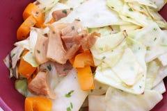 Fresh salad with paprika and tuna fish Royalty Free Stock Photo
