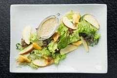 Fresh salad with pears and leaf Royalty Free Stock Image