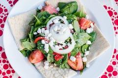 Fresh salad with pita bread Stock Photo