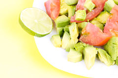 Fresh salad on plate Stock Images