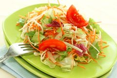 Fresh salad on plate Royalty Free Stock Images