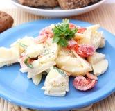 Fresh salad of potatoes Royalty Free Stock Photo
