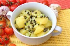 Fresh salad of potatoes Royalty Free Stock Image