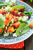 Fresh salad with pumpkin and celery royalty free stock images