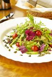 Fresh salad with pumpkin seeds Stock Images