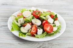 Fresh salad with quail eggs Stock Image