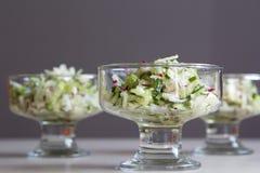 Fresh salad of radish and cucumber.  Royalty Free Stock Images