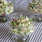 Fresh salad of radish and cucumber Stock Photos