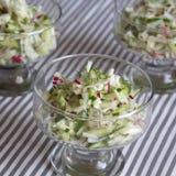 Fresh salad of radish and cucumber.  Stock Photos