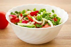 Fresh salad of radish and tomatoes Stock Images