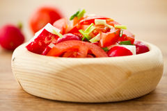 Fresh salad of radish and tomatoes Royalty Free Stock Photos